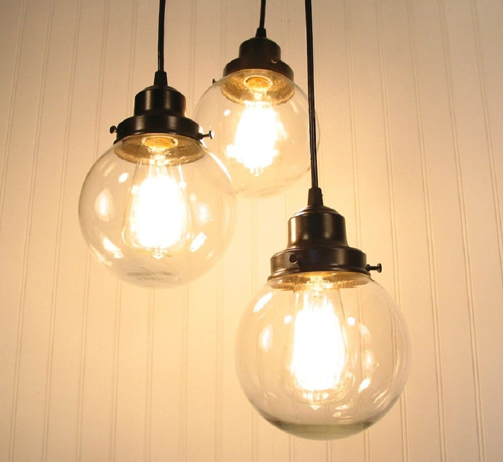 Biddeford II CHANDELIER Light Trio By LampGoods On Etsy