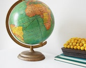antique cram's universal terrestrial globe no.105
