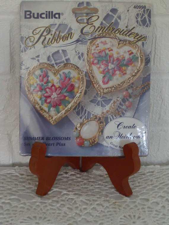 Silk ribbon embroidery kits by bucilla new