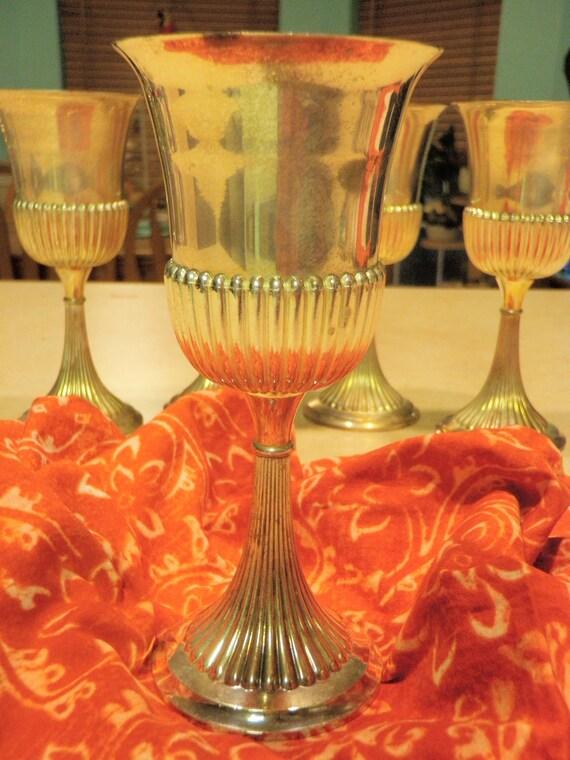 Vintage Silver Plated Goblet Chalice Bar Ware