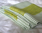 ONE LEFT Linen Green Check Pillow Case - Down to Earth Luxury