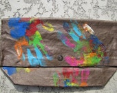 Hand-Painted,  Canvas Clutch Bags