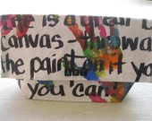 """Hand-Painted,  Canvas Clutch Bags - """"Artist Bag""""  (LARGE)"""