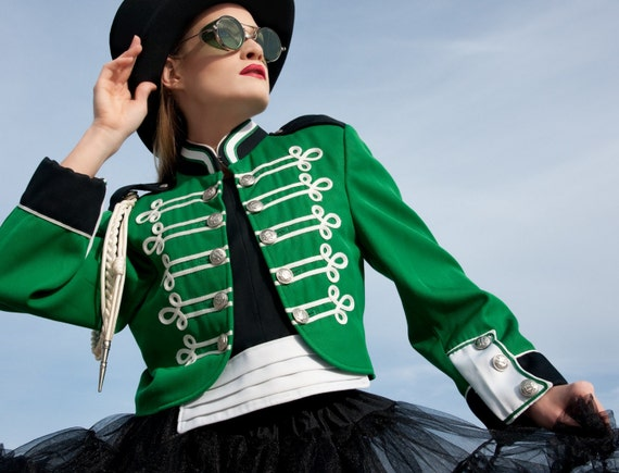 Military Band Jacket Cadet Epaulets Tux Marching Uniform Rock