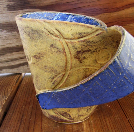 Stoneware Mug, 10 oz, unique pottery art