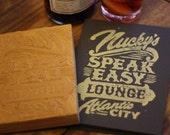 Nucky's Speak Easy Lounge- Linocut