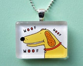 Dog Necklace Yellow Lab Cocker Spaniel Pup