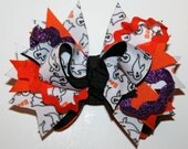 Custom Boutique Halloween Ghost BOO Layered Hair Bow. Great for holiday parties.