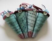 Shabby-Chic Paper Mache Cone