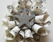 Sheet Music and Glittered Wreath (Small)