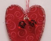 Red Heart with Beads - Home Decor