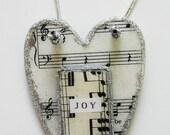 Sheet Music Heart - Glazed Finish - Home Decor