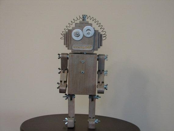googly bot - wooden robot