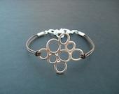 Bridesmaid Gift, Silver Bridesmaid Bracelet with Multi Bubble Pendant