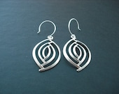 Abstract Marquise Shape Earrings - sterling silver ear wires