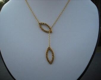 Bridesmaid Lariat, Gold Plated Lariat, Ella Lariat