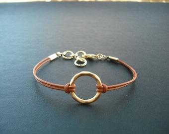 matte golden little hoop bracelet - 16k gold plated
