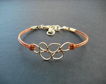 Gold Bracelet, Matte Gold Multi Teardrop Bracelet