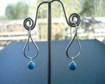 Simplicity Line Art Teardrop Shaped Earrings