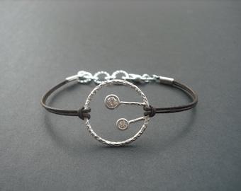 two little tree in a hoop bracelet