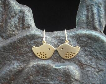 16K gold plated Earrings, Love Birds Earrings