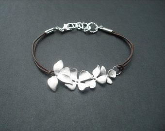 fourfold wild orchid flowers bracelet