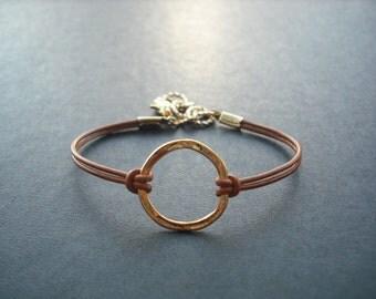 Bridesmaid Bracelet, Golden Hoop Bracelet