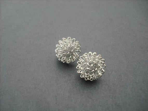 dandelion stud earring - sterling silver post