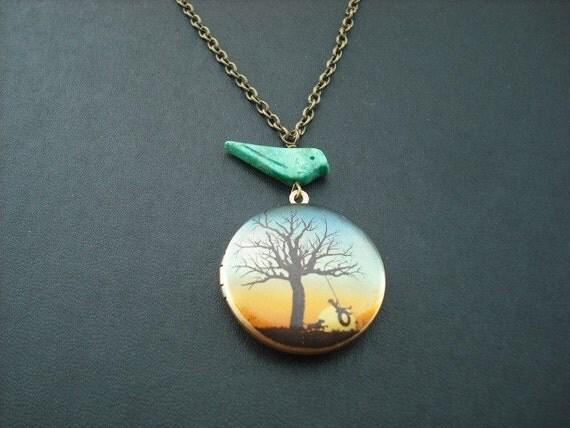 summertime tree locket