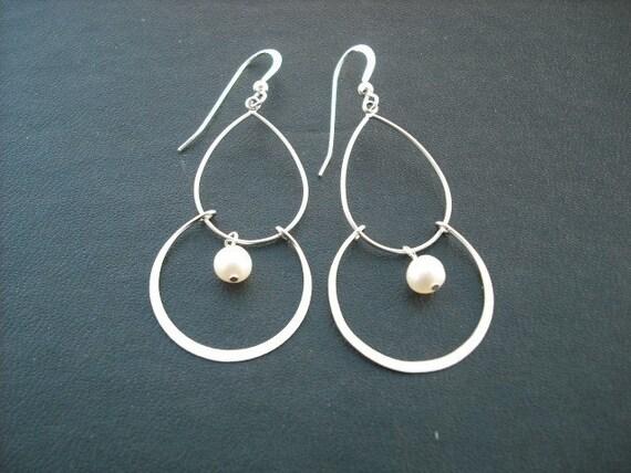 double chandelier earrings - sterling silver ear wires