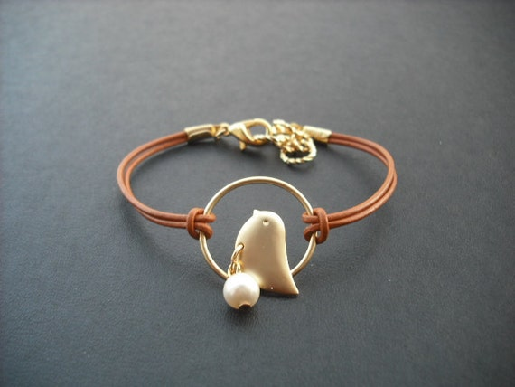 matte gold sweet little chick bracelet