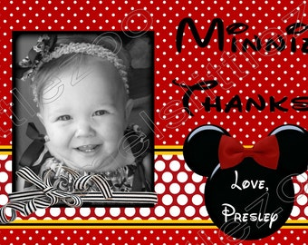 Minnie or Mickey Mouse Digital Thank You Card File