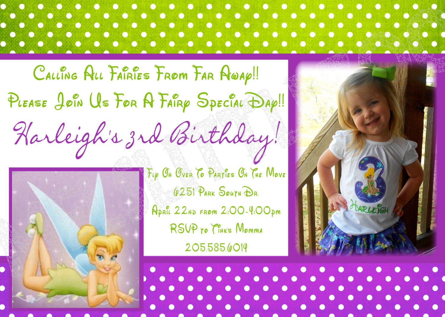 Printable Tinkerbell Invitations as best invitation template