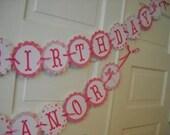 Custom Banner - Pink Pinwheels