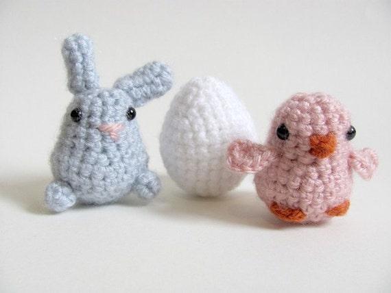 Crochet PATTERN PDF - Amigurumi Chick, Bunny Rabbit, Easter Egg - amigurumi pattern, crochet chicken, crochet animal,  crochet chick pattern