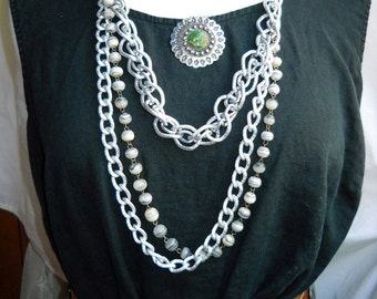 Silvery Shadows Necklace, Time Raveler