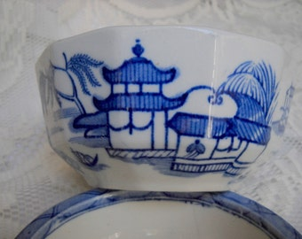 Flow Blue Ashworth Brothers Soap Dish, Time Raveler