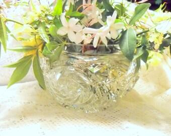 Pressed Cut Vintage Flower Bowl, Time Raveler