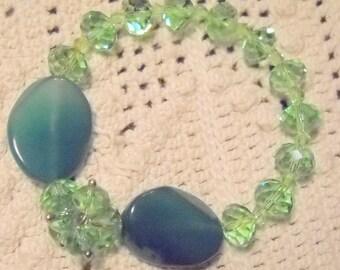 Green Crystals and Gems Bracelet, Time Raveler
