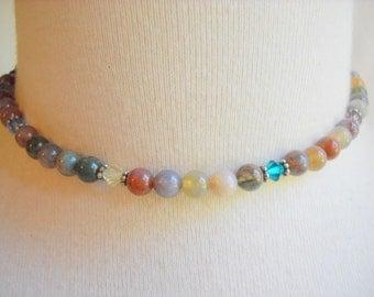 Multicolor Gemstone and Crystal Necklace or Bracelet, Time Raveler