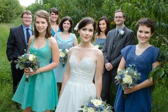 Alencon Lace Wedding Dress with Pockets
