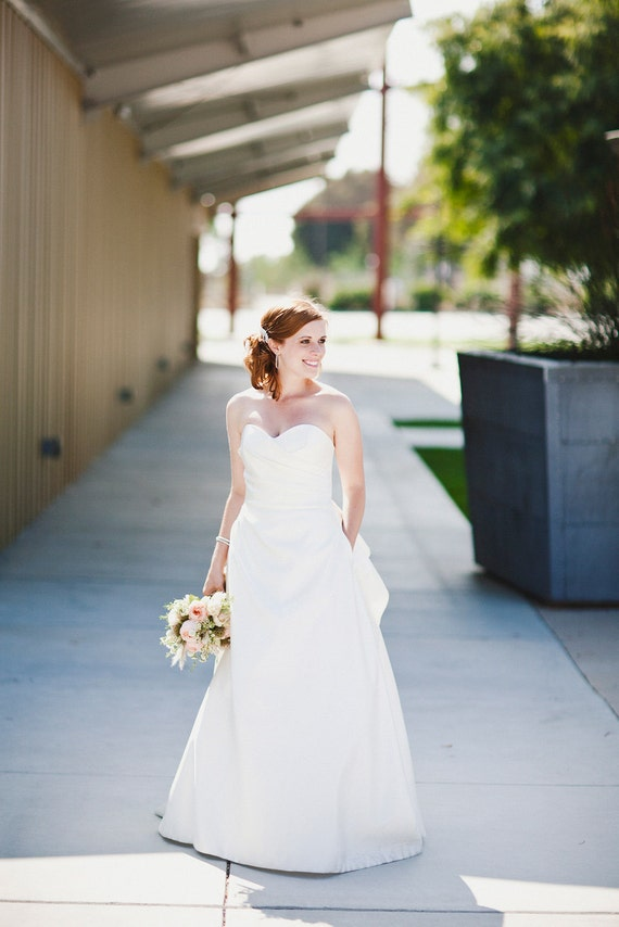 Wedding Gown with Sweetheart Bodice and Hidden Pockets