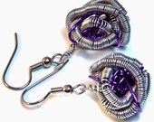 PIF - Coiled Purple - Pay it Forward Earrings