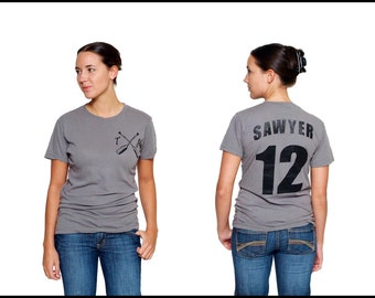 Tom Sawyer Literary T-Shirt Jersey - Mark Twain - Huck Finn - Reader - Book Gift - Author - NOVEL-T