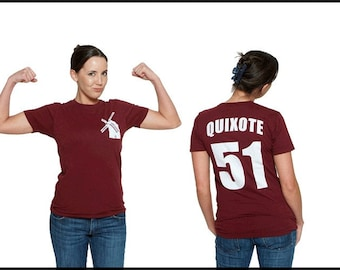 Don Quixote Literary T-Shirt Jersey - Reader - Book Gift - Author Shirt - NOVEL-T