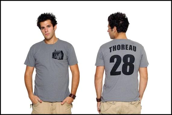 Henry David Thoreau - Walden Pond Cabin - Literary T-Shirt - New Reader Book Gift - Author Shirt - NOVEL-T
