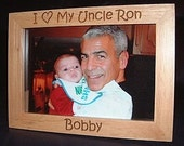 5x7 Personalized Engraved I Love My Uncle Wood Frame