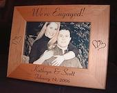 Personalized Engraved 4x6 Engagement Frame Keepsake Gift  We're Engaged