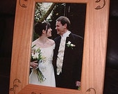 Personalized Engraved 4x6 Wedding Frame Gift Keepsake with Engraved Vines