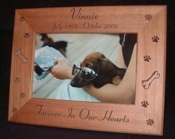 5x7 Personalized Dog Cat Frame, Engraved Pet Frame, Cat Lovers Gift, Dog Lovers Gift, Pet Lovers, Animal Lovers, Pet Memorial Keepsake Gift